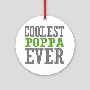Coolest Poppa Ornament (Round)