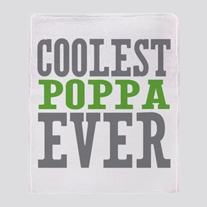 Coolest Poppa Throw Blanket