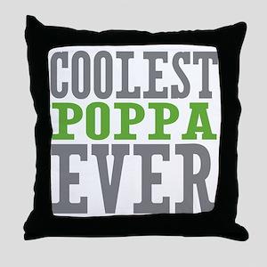 Coolest Poppa Throw Pillow