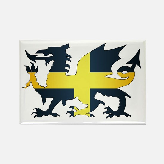 Welsh Dragon Saint David Flag Magnets