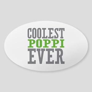 Coolest Poppi Sticker (Oval)