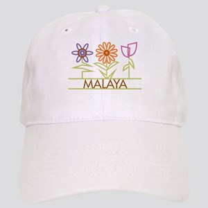 Malaya with cute flowers Cap
