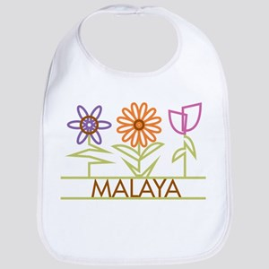 Malaya with cute flowers Bib