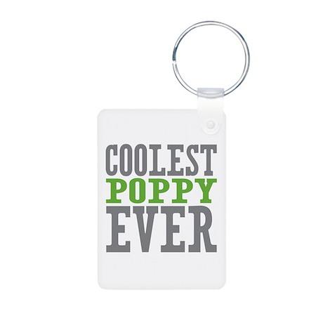 Coolest Poppy Aluminum Photo Keychain