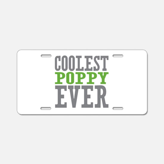 Coolest Poppy Aluminum License Plate