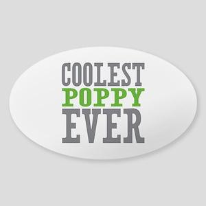 Coolest Poppy Sticker (Oval)
