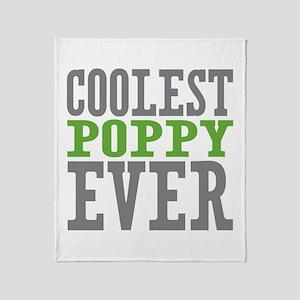 Coolest Poppy Throw Blanket