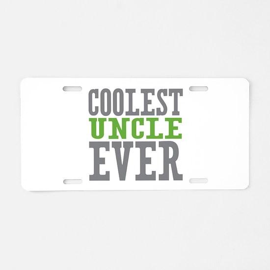 Coolest Uncle Aluminum License Plate