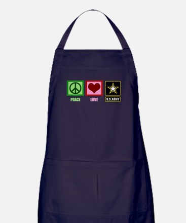 Peace Love Army Apron (dark)