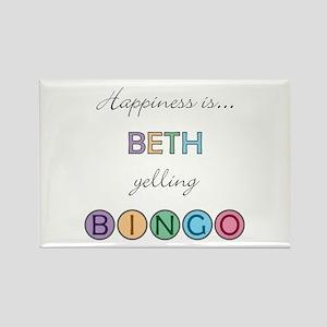 Beth BINGO Rectangle Magnet
