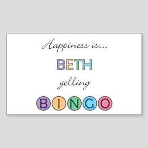 Beth BINGO Rectangle Sticker