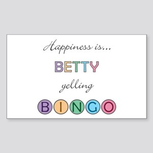 Betty BINGO Rectangle Sticker