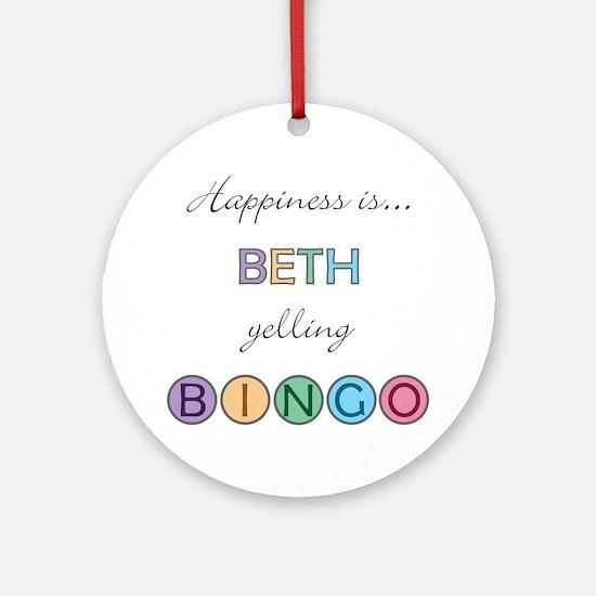 Beth BINGO Round Ornament
