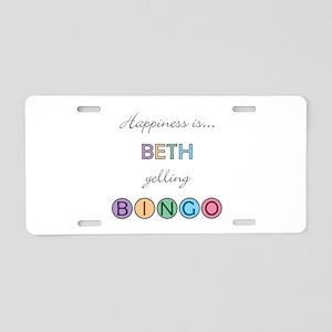 Beth BINGO Aluminum License Plate