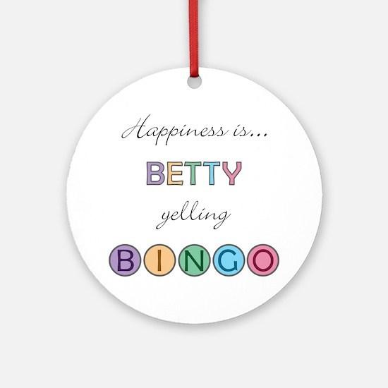 Betty BINGO Round Ornament
