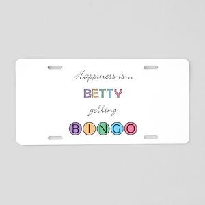 Betty BINGO Aluminum License Plate
