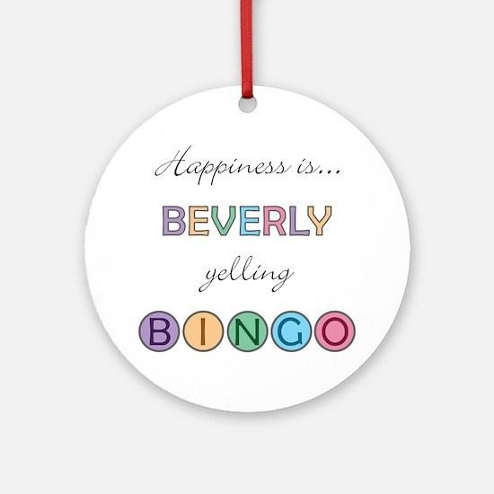 Beverly BINGO Round Ornament