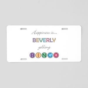 Beverly BINGO Aluminum License Plate