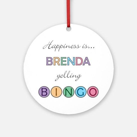 Brenda BINGO Round Ornament