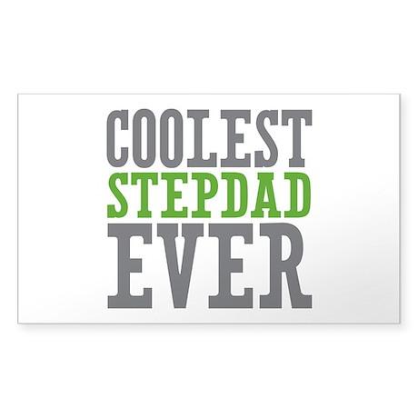 Coolest Stepdad Sticker (Rectangle)