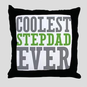 Coolest Stepdad Throw Pillow