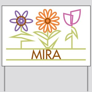 Mira with cute flowers Yard Sign