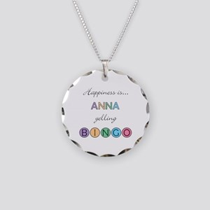 Anna BINGO Necklace Circle Charm