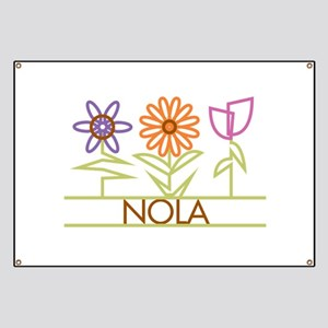 Nola with cute flowers Banner