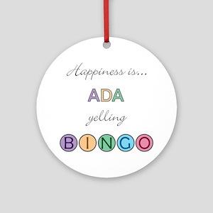 Ada BINGO Round Ornament