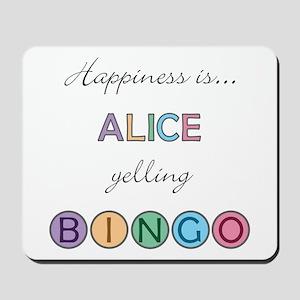 Alice BINGO Mousepad