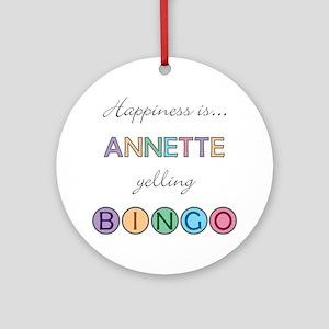 Annette BINGO Round Ornament