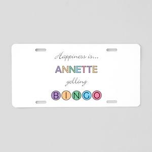 Annette BINGO Aluminum License Plate