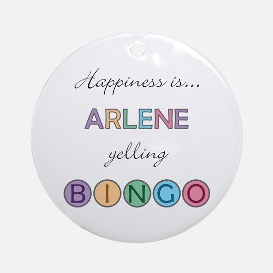 Arlene BINGO Round Ornament