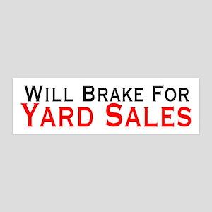 Will Brake For Yard Sales 21x7 Wall Peel