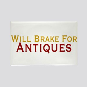 Will Brake For Antiques Rectangle Magnet
