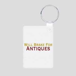 Will Brake For Antiques Aluminum Photo Keychain