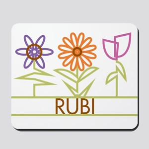 Rubi with cute flowers Mousepad