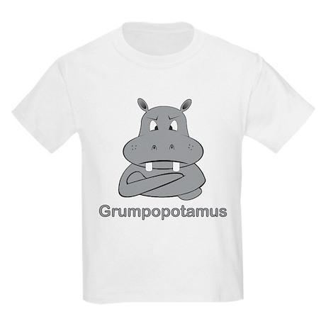 Grumpopotamus Kids Light T-Shirt