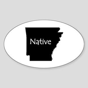 Arkansas Native Sticker (Oval)