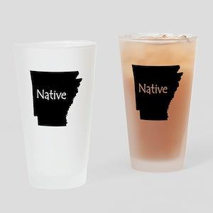 Arkansas Native Drinking Glass
