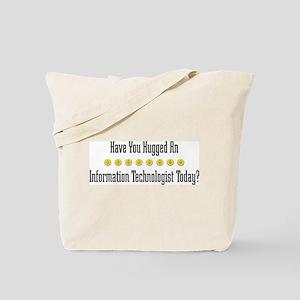 Hugged Information Tote Bag