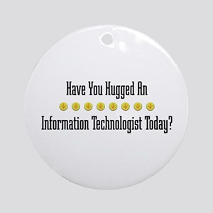 Hugged Information Ornament (Round)