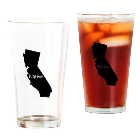 California Native Drinking Glass