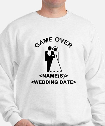 Game Over (Names and Wedding Date) Sweatshirt