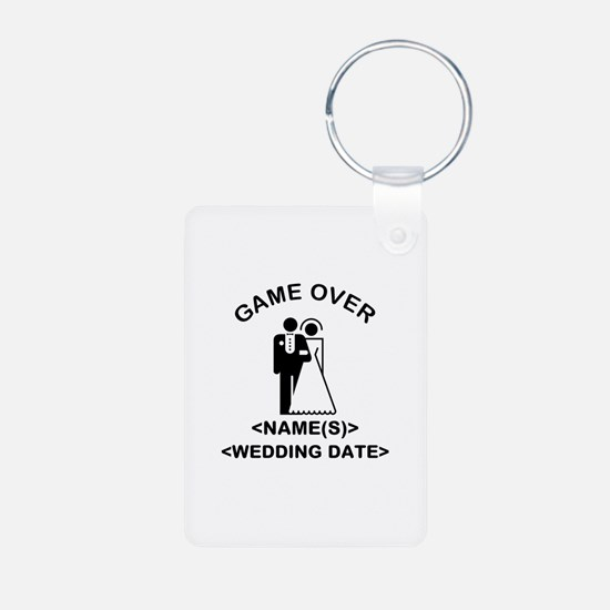 Game Over (Names and Wedding Date) Keychains