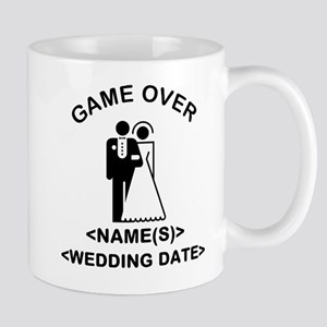 Game Over (Names and Wedding Date) Mug