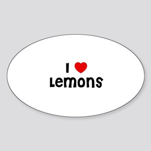 I * Lemons Oval Sticker