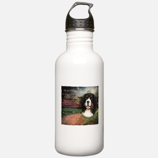 """""""Why God Made Dogs"""" Bernese Water Bottle"""