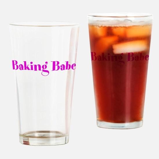 Baking Babe Drinking Glass