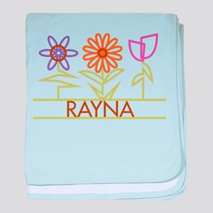 Rayna with cute flowers baby blanket